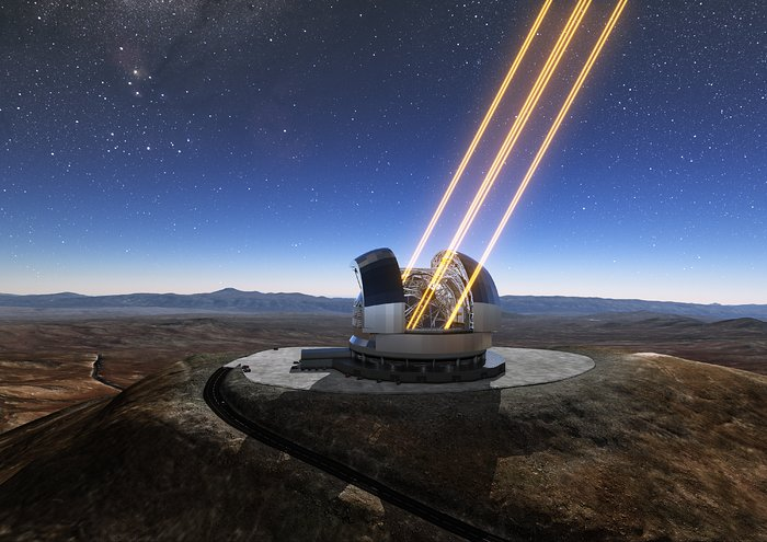 Artist's rendering of the ELT in operation
